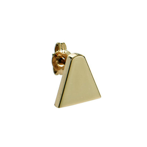 Ice Cream Cone Stud Earring (single), Gold