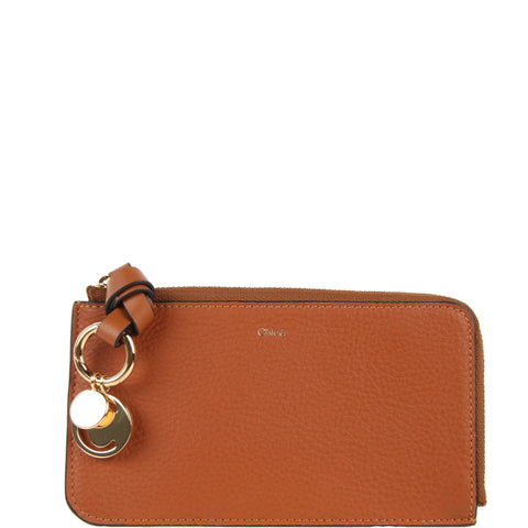 Alphabet Medium Purse, Tan