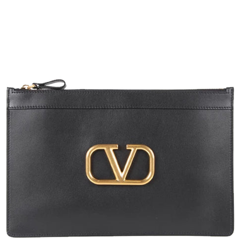 Flat Pouch Metal V, Black