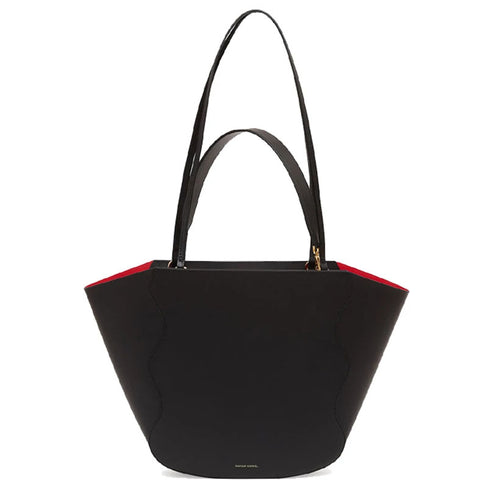 Ocean Tote, Vegetable Tanned Black/Flamma