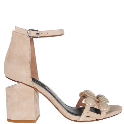 Abby Sandal 80 Suede, Cashmere/Resin