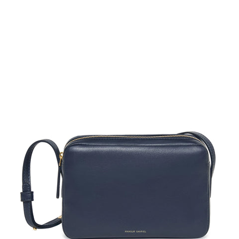 Double Zip Crossbody Lamb, Blue