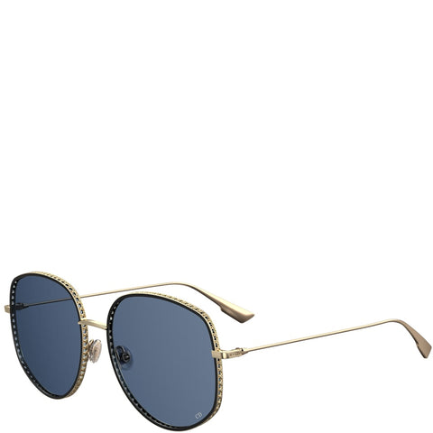 DiorByDior 2 Sunglasses, Gold/Blue