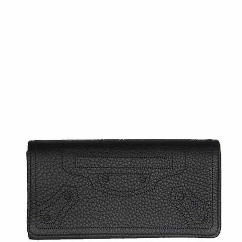City Blackout Wallet Flap, Black/Silver