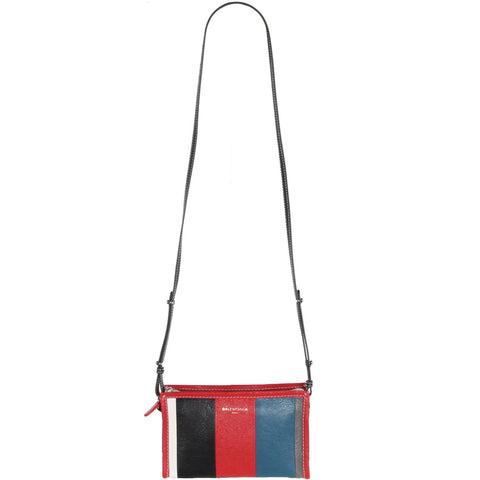 Bazar Crossbody Pouch, Red/Blue