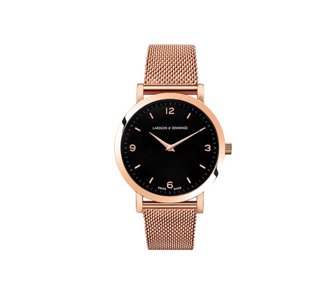 Lugano 33mm, Rose Gold Chain