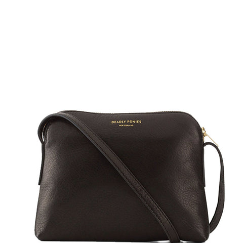 Mr Bamboo Cross Body, Black