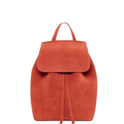Backpack Mini Suede, Brick