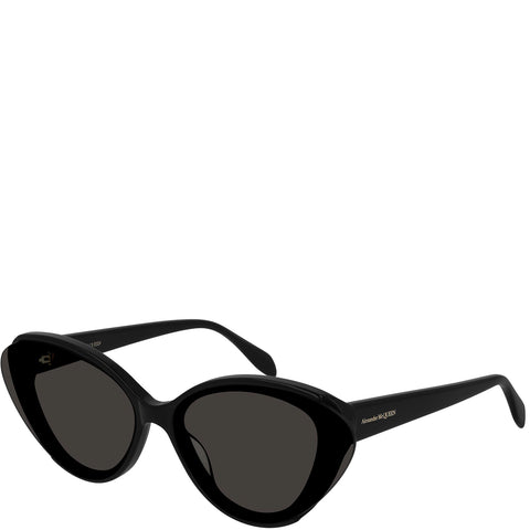 Acetate Cateye Sunglasses, Black/Grey