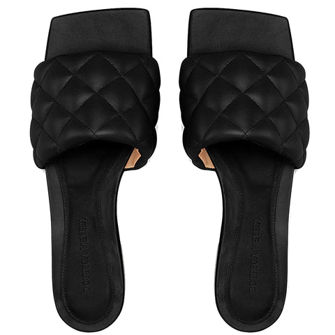 Padded Slide Stitched, Black