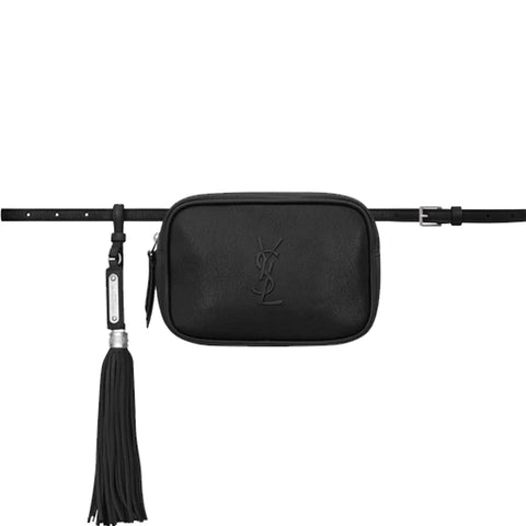 Lou Belt Bag Embossed, Black/Nickle
