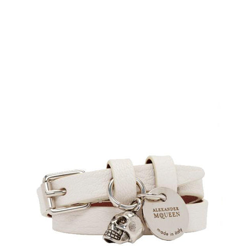 2x Wrap Bracelet, Off White/Silver