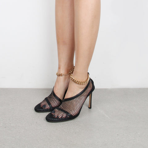 Stretch Mesh Sandals 90, Black