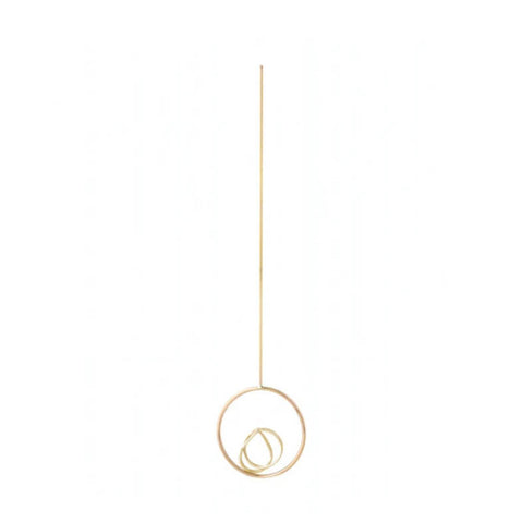 Lona Drop Earring, 9k Gold (single)