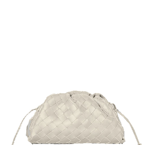 The Pouch Mini Intrecciato, Blanco