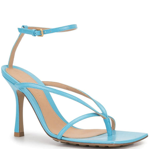 Stretch Square Sandal 90, Sky Blue