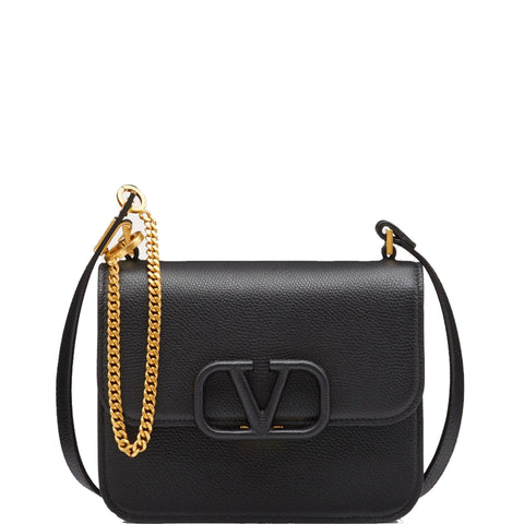 VSling Shoulder Bag Small Grained, Black