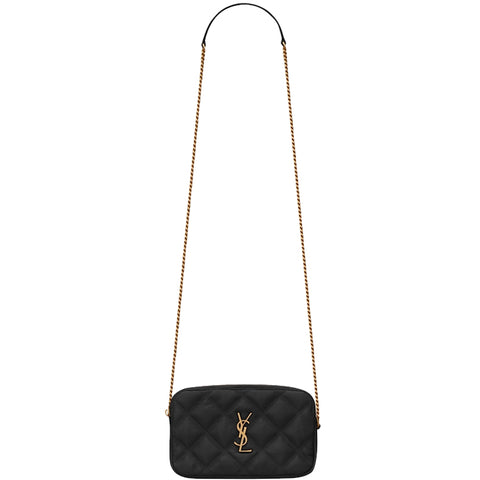 Becky Pouchette Double Zip, Black