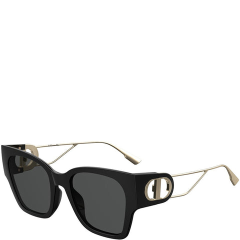 Dior 30Montaigne1 Sunglasses, Black/Gold