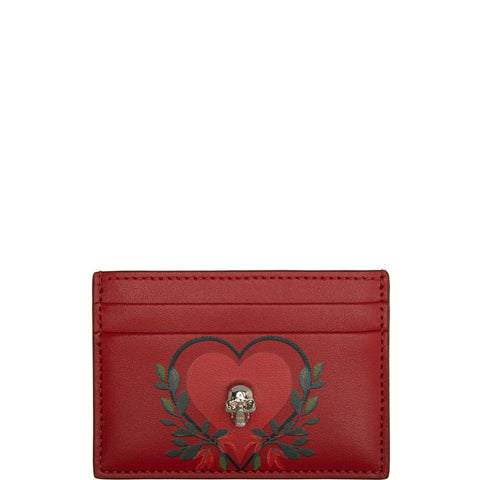Flat Cardholder Heart, Red