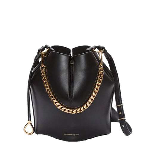 Bucket Bag Small, Black/Gold