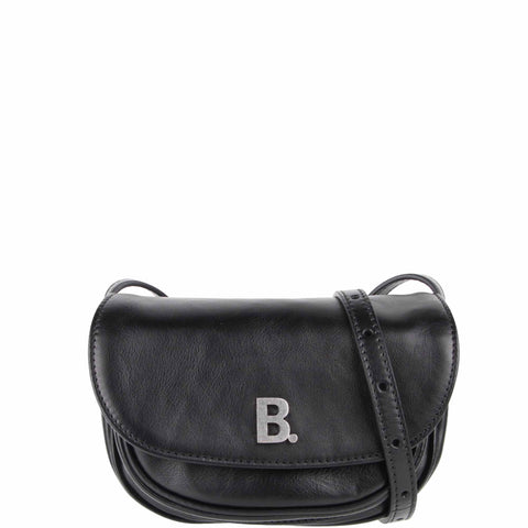 B Soft Round Nappa, Black