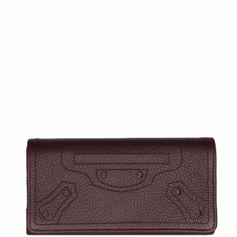 City Blackout Wallet Flap, Acajou/Silver