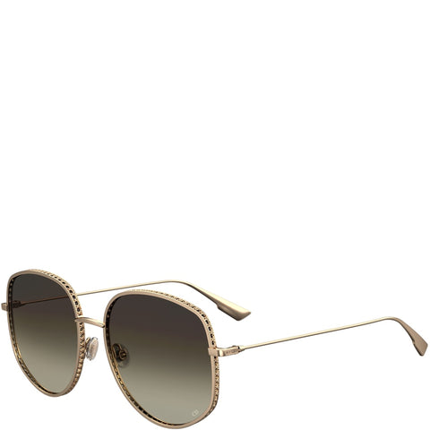 DiorByDior 2 Sunglasses, Gold/Brown