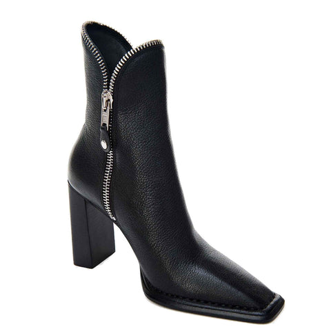 Lane Boots 100 Grained, Black/Rhodium