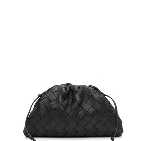 The Pouch Mini Intrecciato, Black