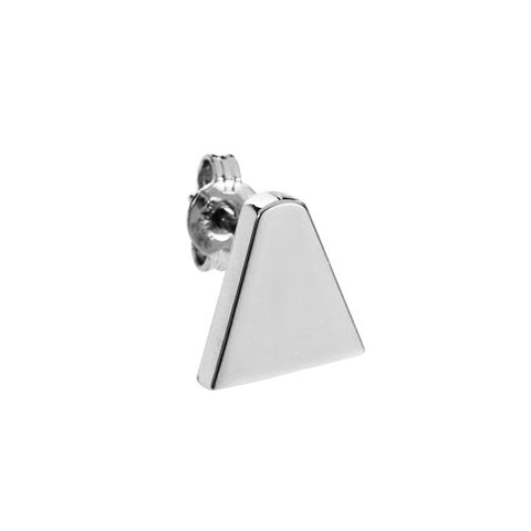 Ice Cream Cone Stud Earring (single), Silver