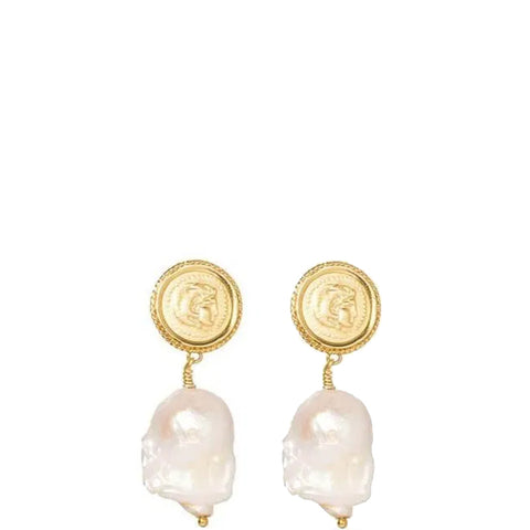 Hercules Lost Sea Pin Earrings, Gold (pair)
