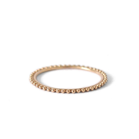 Full Dot Ring, Gold