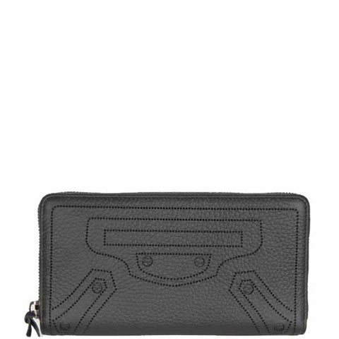 City Blackout Wallet Zip, Fossil/Silver