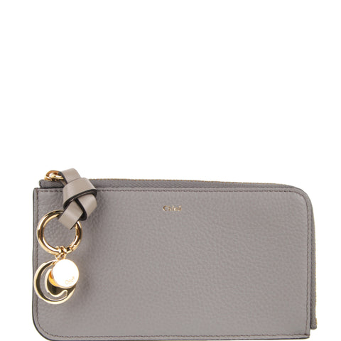 Alphabet Medium Purse, Cashmere Grey