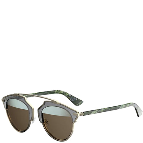 Dior So Real Sunglasses, Green Marble