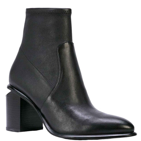 Anna Stretch Boots 85, Black/Rhodium