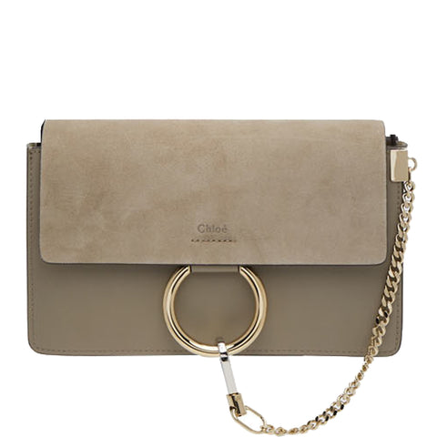 Faye Small Calf/Suede, Motty Grey
