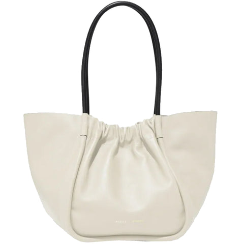 PS Ruched Tote Large Calf, Clay