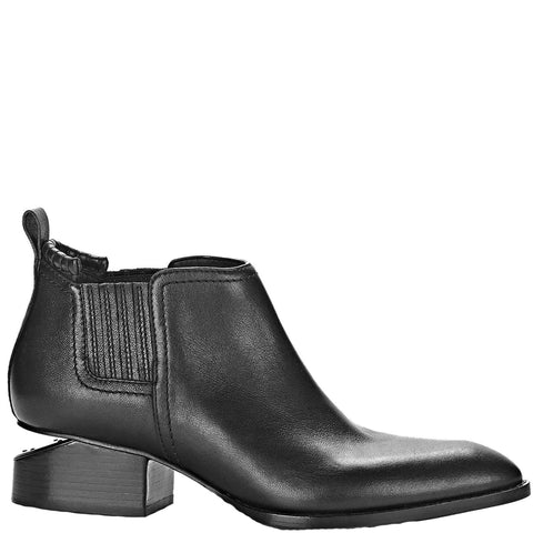 Kori Low Ankle Boots, Black w/ Black Metal