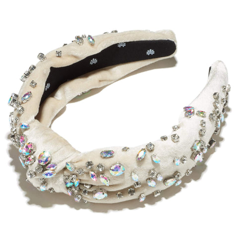 Mixed Shape Crystal Headband, Ivory Pastel