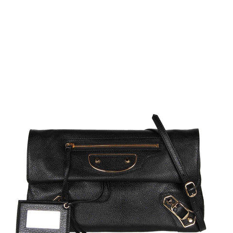 Envelope Clutch Grained ME, Black/Gold
