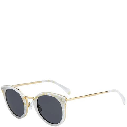Lea Sunglasses, White Marble