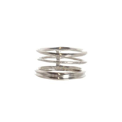 Spine Stack Ring, Silver
