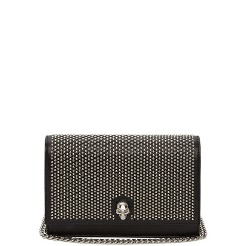 Skull Mini Bag Studded, Black/Silver