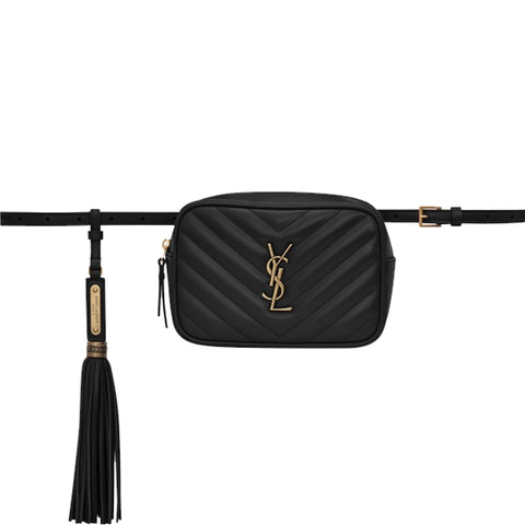 Lou Belt Bag Chevron, Black/Bronze