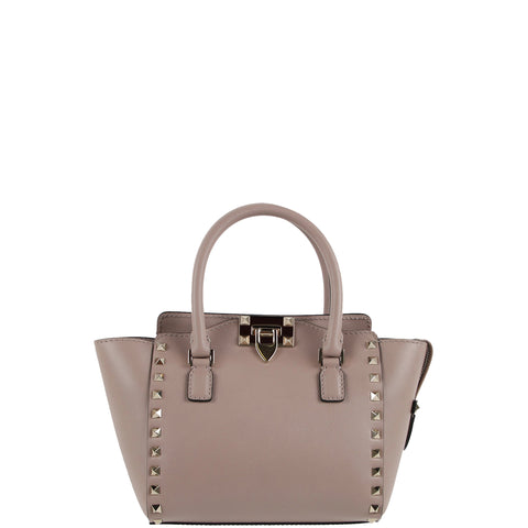 Trapeze Tote Mini Structured Smooth, Poudre