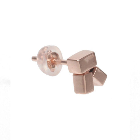 Cluster Stud Earring (single), 9k Rose Gold