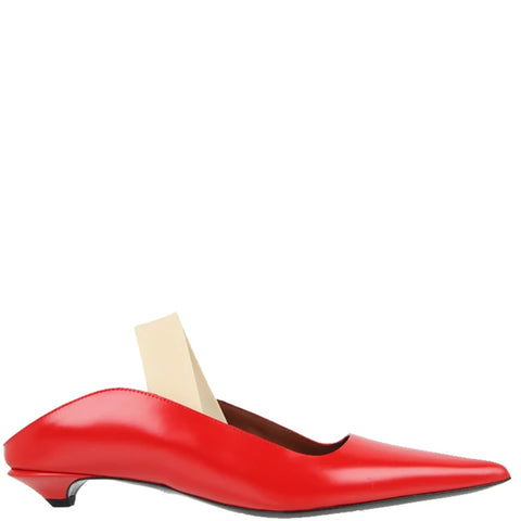 Slingback Wave Pump Nappa, Cherry