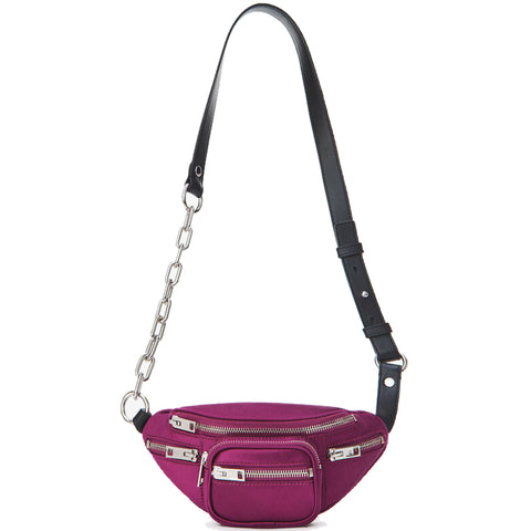 Attica Belt Bag Mini Satin, Purple